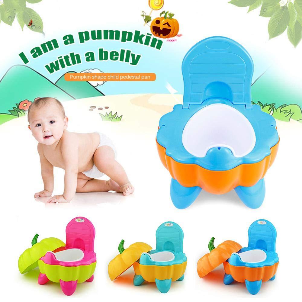 Fewao Pot B/éb/é Toilette de Voyage Portable Design Amusant pour Enfant Dossier Ergonomique Haut Confortable et Robuste