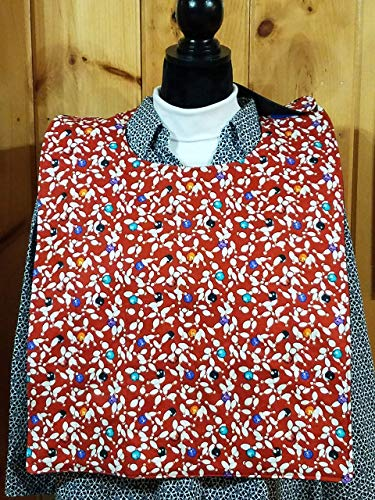 Bowling Adult Quilted Reversible Bibs - Special Needs - Clothing Protector