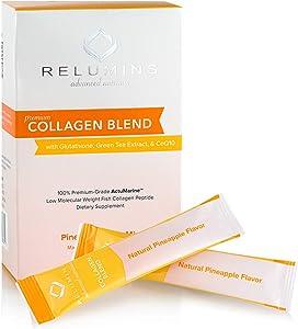 Relumins Premium Collagen Blend Powdered Drink Mix - Pineapple (10 Sachets)