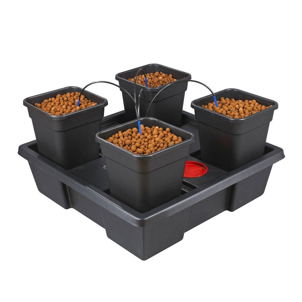 WILMA Atami 4Topf komplett Tropfer System Grow Kit Hydrokultur
