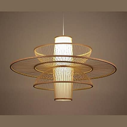 Pastoral Rattan Pendant Lamp Wooden Japanese Bamboo Restaurant Lighting Lights ZL14 Ya73 Lo9