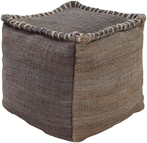 Surya 18 Square (Surya Contemporary Square pouf/ottoman 18