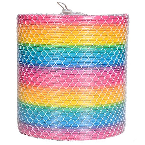 ArtCreativity Gigantic Coil Spring | Opens to 16 Feet | Jumbo Plastic Rainbow Coil Spring | Great Gift idea for Boys and Girls Ages 3+