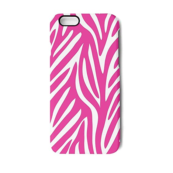 IPhone 7 Case 8 Pink Zebra Wallpaper Shock Proof