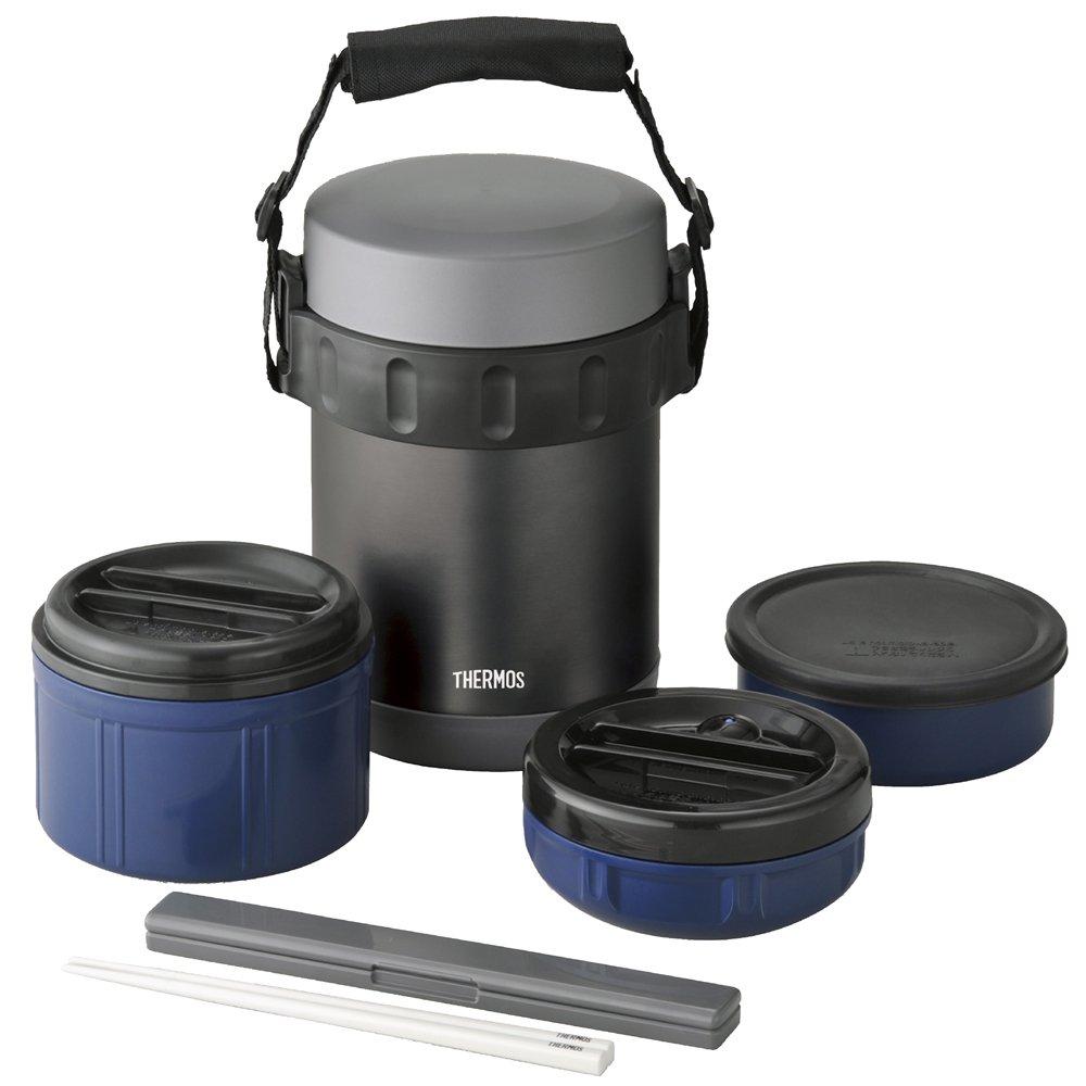 JBA Essenbehälter mit 3 Fächern +++ Edelstahl +++ 2L Fassungsvermögen +++ das ORIGINAL von THERMOS