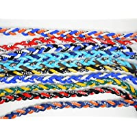 "iBUY365 Assorted Tornado Titanium Necklaces 20"" Package of 10 By iBUY365"