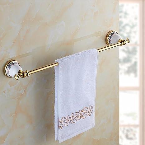Hong Long Jade decorada toallero, completo kontinentales Cobre varillas, toallas de mano de oro