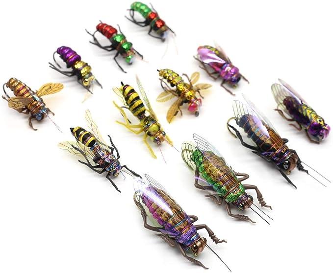 LOT 10 Foam Bumble Bee Nymph Trout Flies Fly fishing Hook T0Y7 R3I6 2019 F5K0