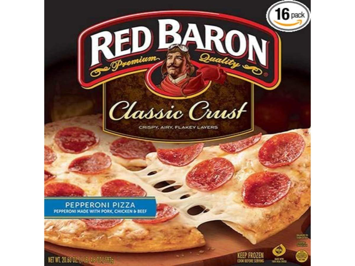 Amazon Com Red Baron Classic Crust Pepperoni Pizza 12 Inch 16 Per Case Grocery Gourmet Food,Mother In Laws Tongue