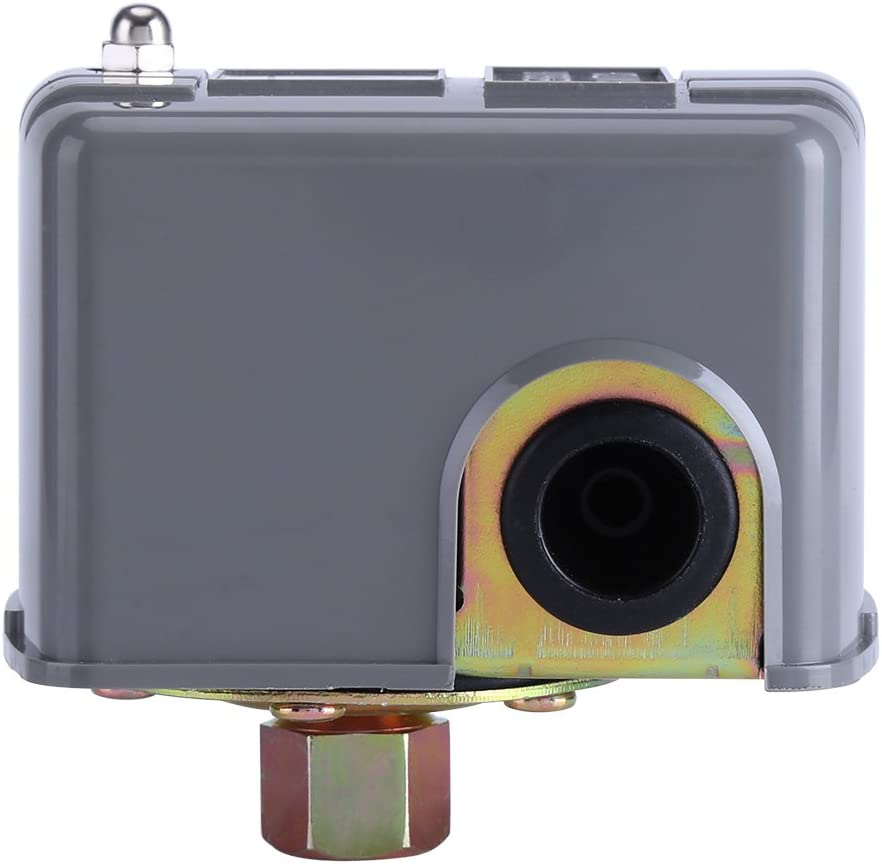 Samfox Interruptor de presi/ón Interruptor de Control de presi/ón de Bomba de Agua de Doble Resorte Ajustable