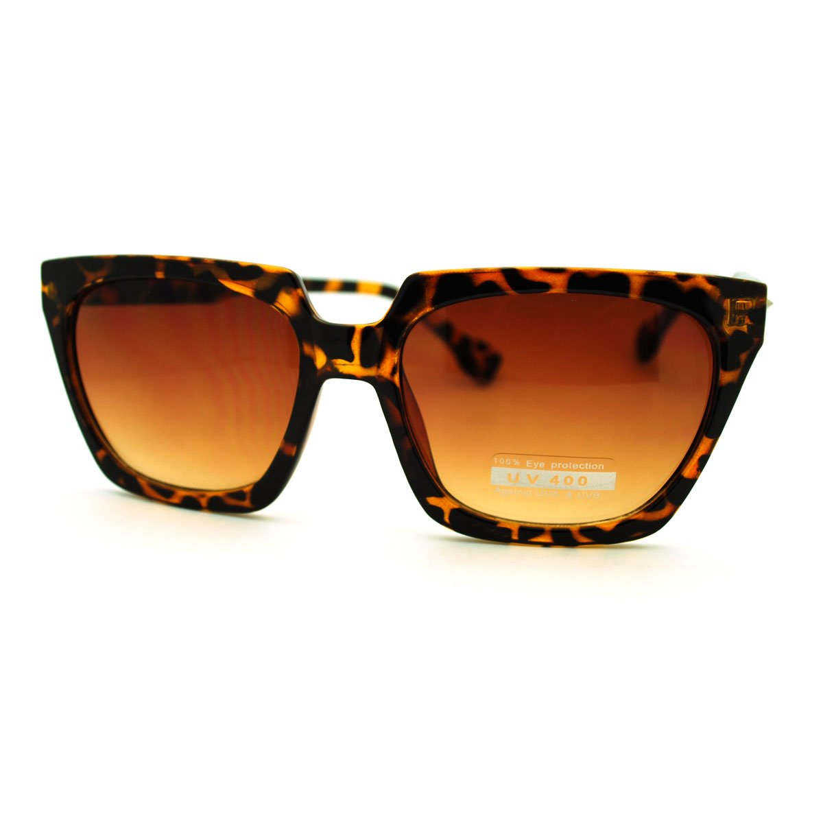 b1fcce5a0fd Amazon.com  Flat Top Square Sunglasses Thorn Studs Design Trendy Stylish  Shades (black