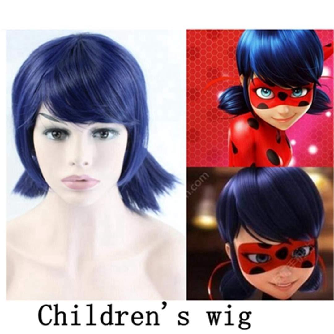 Amazon.com : Miraculous Ladybug Wigs Peluca Marinette Girls ...