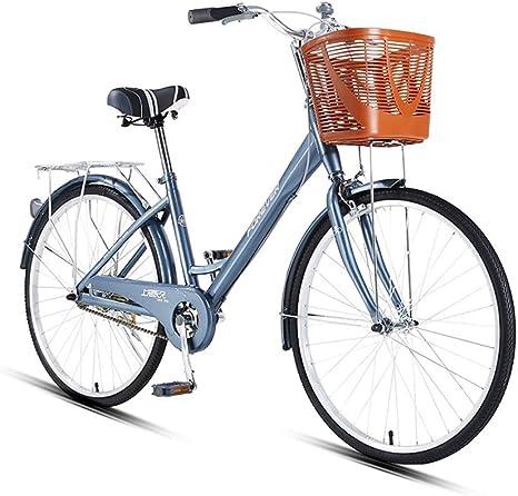 Kehuitong Bicicleta Ligera de 24/26 Pulgadas, Bicicleta Urbana ...
