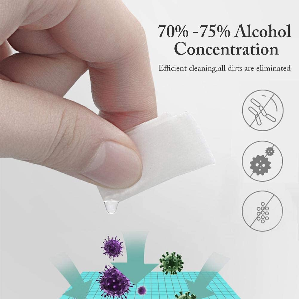 50pcs Disposable Alcohol Prep Pads Disinfection Cotton Wipe Pad for Earphone Camera Notebook Computer Sterile Alcohol Prep Pads