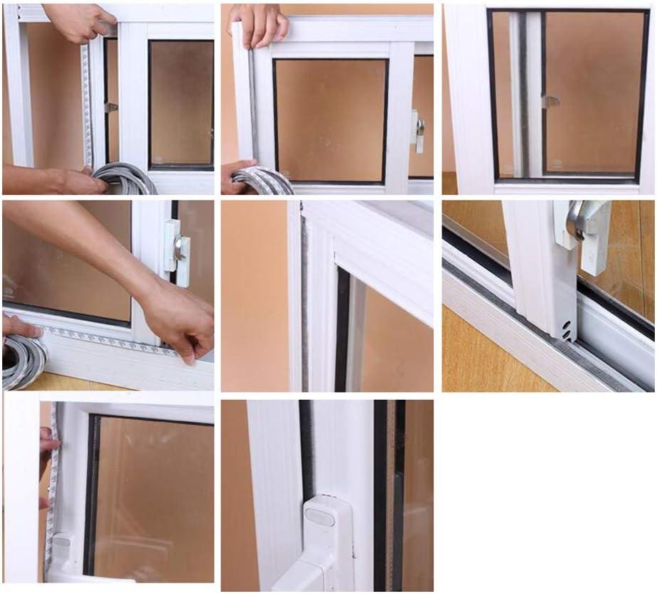 JJDD - Pincel adhesivo para desmontar el clima, 32.8 pies x 11/32 pulgadas x 11/32 pulgadas, cepillo para puerta de fieltro, burlete de puerta, puerta corredera, ventana, armario (gris), gris: Amazon.es: Bricolaje y herramientas