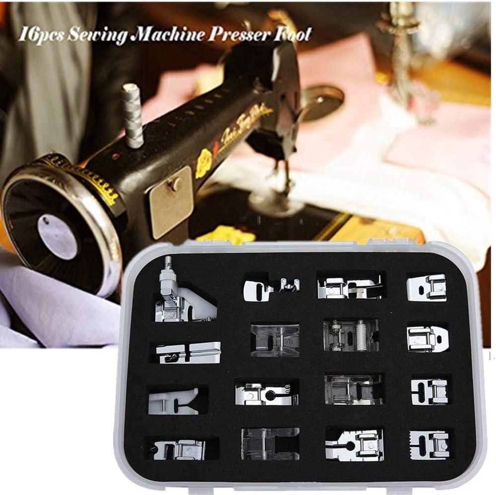 WeFoonLo 16pcs Máquina de coser profesional Pies prensatelas Kit ...