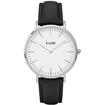 Cluse Reloj Analógico para Mujer de Cuarzo con Correa en Cuero CL18208: Amazon.es: Relojes