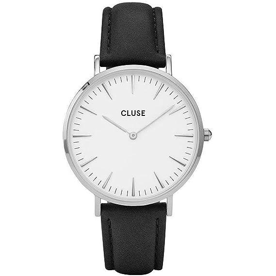 Cluse Reloj Analógico para Mujer de Cuarzo con Correa en Cuero CL18208