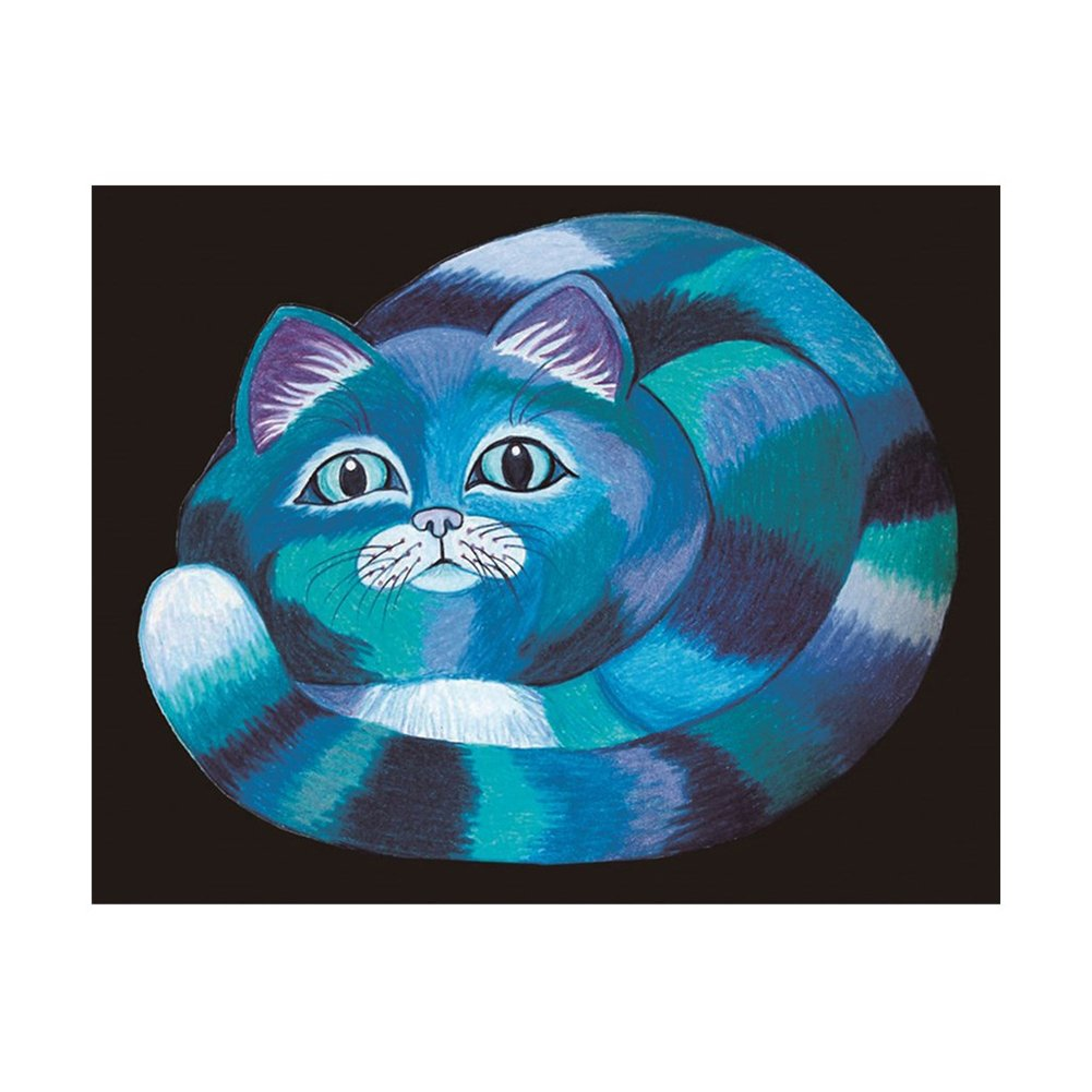Colorido Cartoon Cat 5D Diamond Painting Cross Stitch Wall Decor