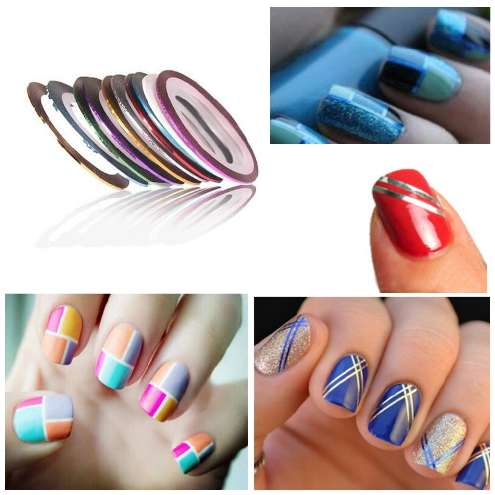 Buy Nail Art Kit Set - 3D Rhinestones Colorful and Neon Wheels ...