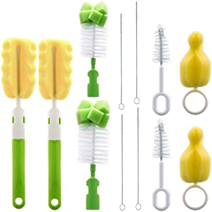 2 Pieces 6-in-1 Bottle Brush Cleaner set, Cleaning Brush Set for Cups Sports Bottle Baby Bottle and More