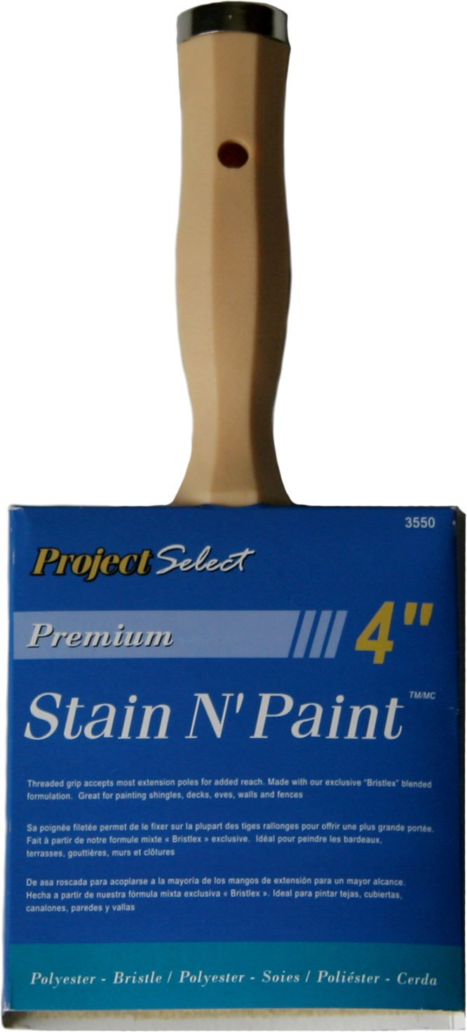 Linzer 3550 Satin and Stain Block Brush-Poly/ Bristle Blend