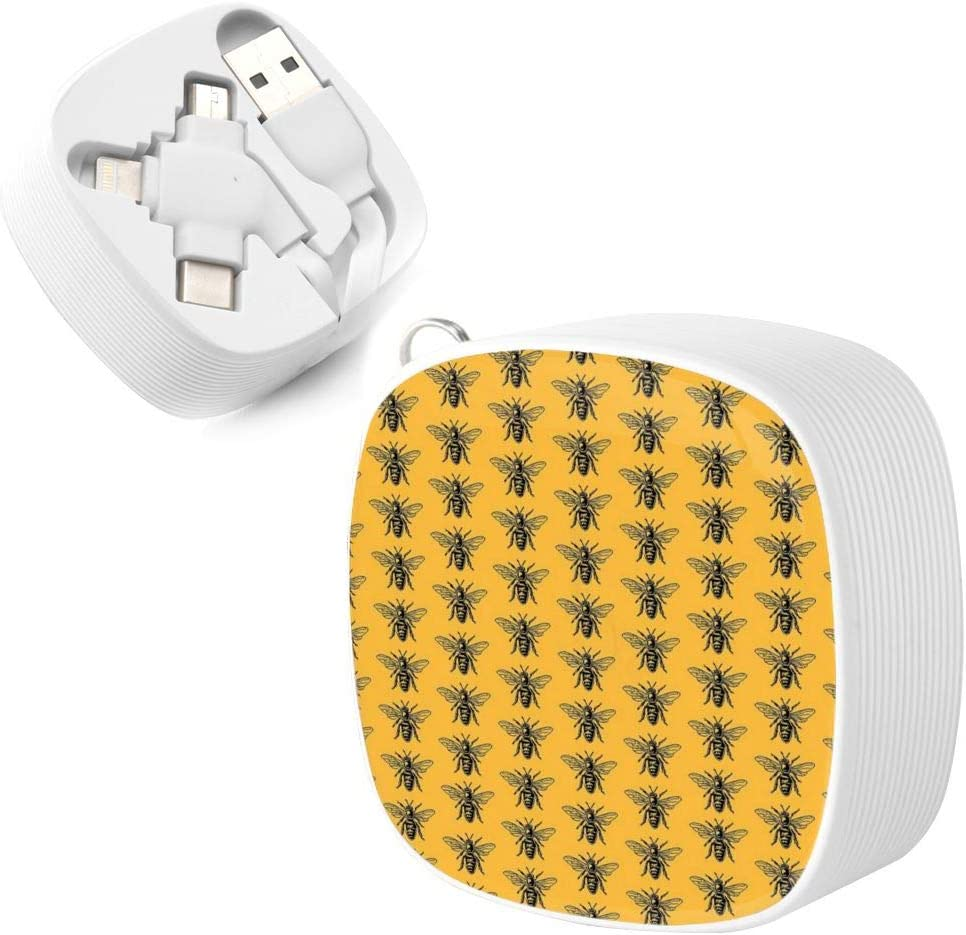 A Necessary Data Cable for Home and Car Travel Save The Bees Square Three-in-One Data Cable