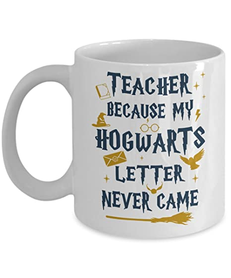 great gift ideas teacher because my letter never came coffee mugs novelty ceramic white