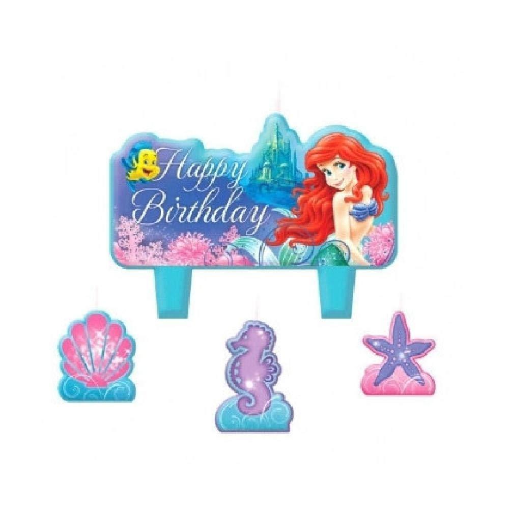 Bargain World Little Mermaid - Juego de Velas (4 Unidades ...
