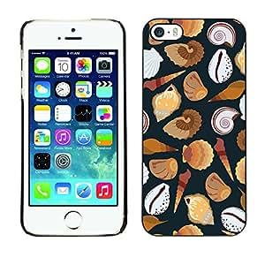 Print Motif Coque de protection Case Cover // V00002030 patrón de conchas marinas // Apple iPhone 5 5S 5G