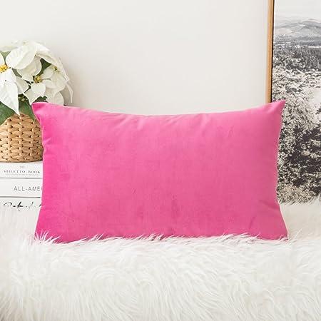 MIULEE Terciopelo Suave Juego de Mesa de Manta de decoración Cuadrado Fundas de Almohada cojín Casos Fundas de Almohada para sofá Dormitorio Coche 12 x 20 (30 x 50 cm): Amazon.es: Hogar