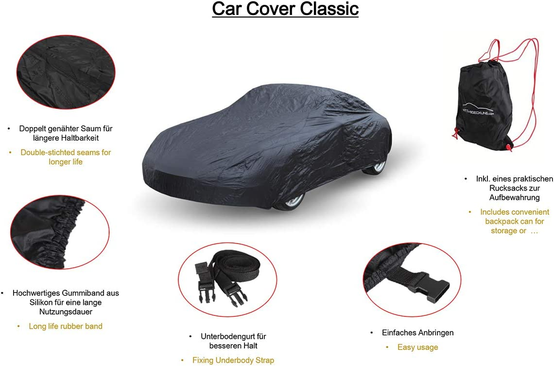 Car cover Autoabdeckung pour Ford Mustang V shelby gt500
