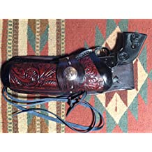 C.O.W.S. Western Cowboy Leather Drop Holster with Floral Scroll Single Six Uberti Stallion