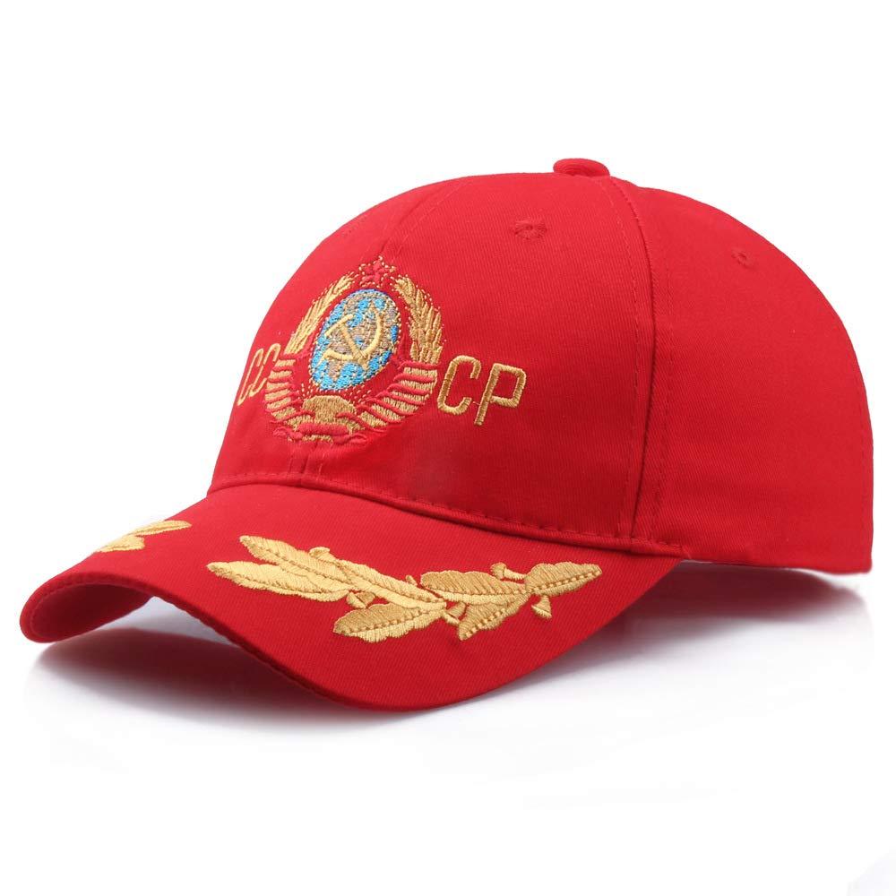 JJJRMP Gorra B/éisbol USSR CCCP Letras Bordadas Soviet Conmemoran Hombres Gorra Ruso CCCP Sombreros para Hombre Vintage Caps Snapback
