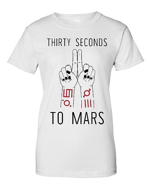 30 Seconds To Mars Design Camiseta de Mujer: Amazon.es: Ropa ...