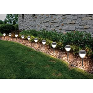 Sol Mar Solar Garden Lights 10 Pack Landscape Path Lights