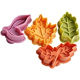 SPHTOEO A set of 4pcs leaf Leaves Set Plunger and Cutter