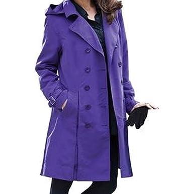 87150d64533d Women s Fall Winter Water- Resistant Rain Trench Coat Hood Jacket Plus 1X  2X 5X (