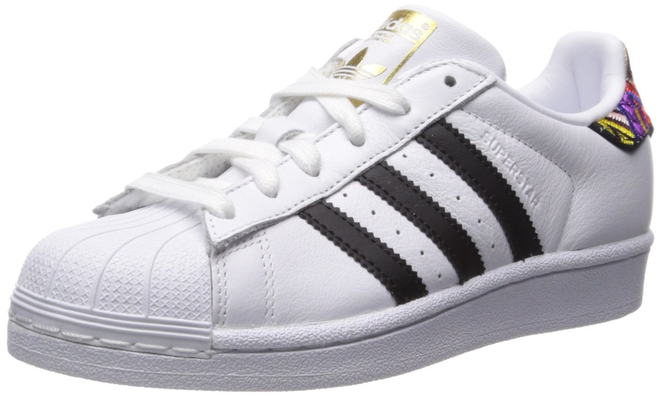 adidas Originals Women's Superstar W B075R8JH5W 5.5 B(M) US|Ftwr White, Core Black, Gold Met.
