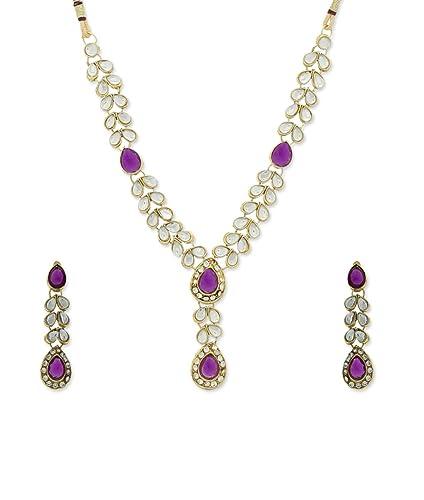Fashion Jewelry Purple Diamante Necklace