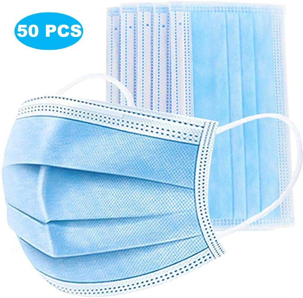 HEMENG 50 Piezas, protección contra el Polvo, protección respiratoria protección Facial desechable Engrosada