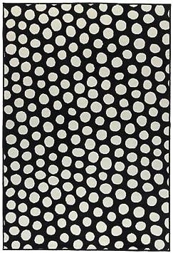 Ikea Ullgump Tapis Poil Ras Noir Blanc 133x195 Cm Amazon