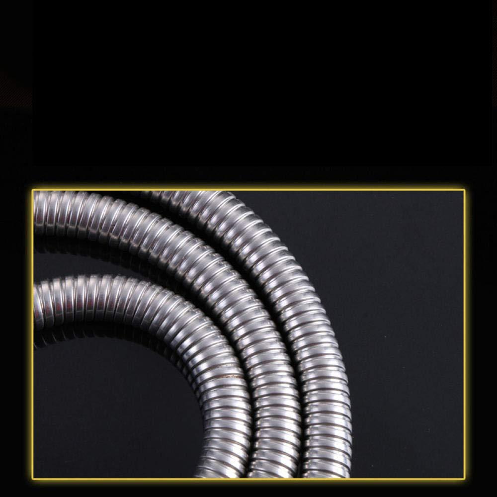 kutera Tubo de ducha de acero inoxidable 304 tubo de ducha de doble hebilla de acero inoxidable manguera de ducha de acero inoxidable 40cm