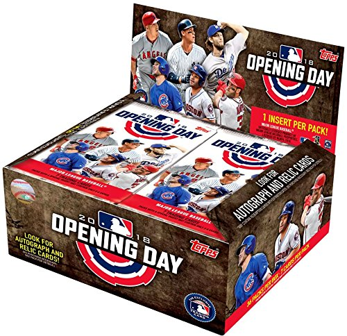 2018 Topps Opening Day Baseball Hobby Box (36 Packs/7 Cards) (Topps Mlb Box)