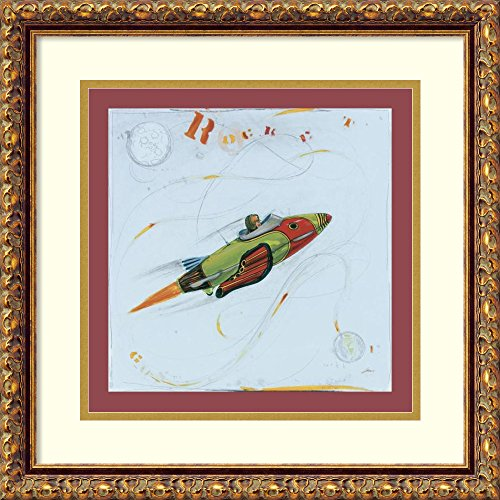 Framed Art Print 'Rocket' by Paul Gibson (Antique Gibson Paul Les Classic)