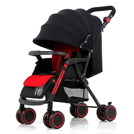 Cochecito de bebé, Carro Infantil Ligero Suspensión Plegable ...