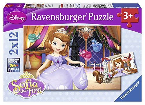 Ravensburger Sophia the First: Princess Sofia Puzzles in a Box 2 x 12 Piece Jigsaw Puzzles for Kids – Every Piece is Unique, Pieces Fit Together Perfectly