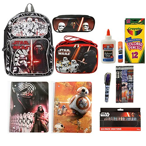 Star Wars Backpack and Lunch Bag With Statioery Set