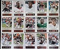 2014 Score Football Cincinnati Bengals Team Set In a Protective Case - 15 Cards Including A.J. Green (2), Geno Atkins (2), Darqueze Dennard RC, AJ McCarron RC, Andy Dalton, Jeremy Hill RC, Tyler Eifert, Vontaze Burfict, Jermaine Gresham, BenJarvus Green-E