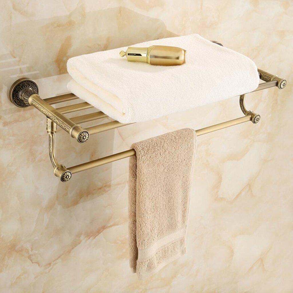 Met Love Salle de bains Vintage en alliage de zinc sculpté Salle de bains multi-fonctionnelle Serviette Rack Salle